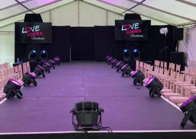 Light Installation with Love Lisburn Fashion 2019